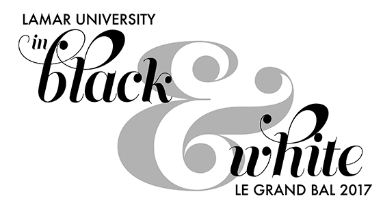 Le Grand Bal Lamar University in Black and White