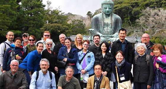 Lamar University art professor Kurt Dyrhaug in Tokyo, Japan