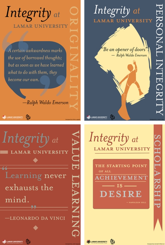 Integrity Posters - Lamar University