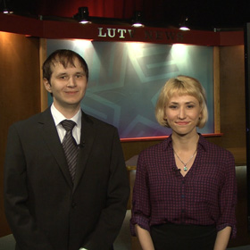 LUTV student news anchors Tippett and Smithhart