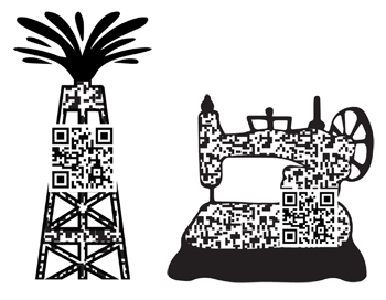 Designs created for Spindletop QR codes