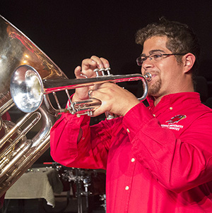 Eric Diaz performs in the Faculty Brass Quintet