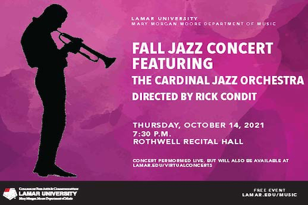 Mary Morgan Moore Department of Music presents the Fall Jazz Concert