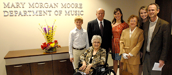 Naming ceremony for the Mary Morgan Moore Department of Music at LU
