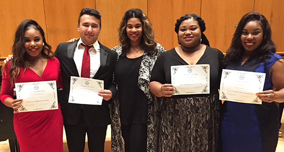 Voice students take first place in competition