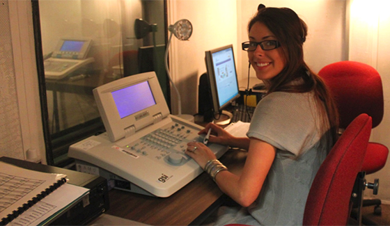 Student working in the Audiology Clinic