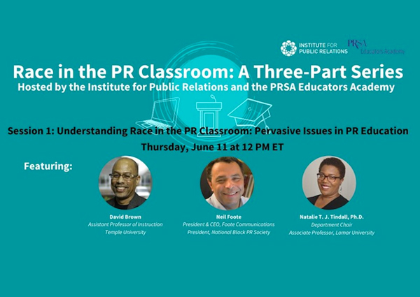 Natalie Tindall to serve as guest speaker for Race in the PR Classroom Series