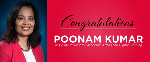Dr. Poonam Kumar named LU associate provost, academic affairs and digital learning