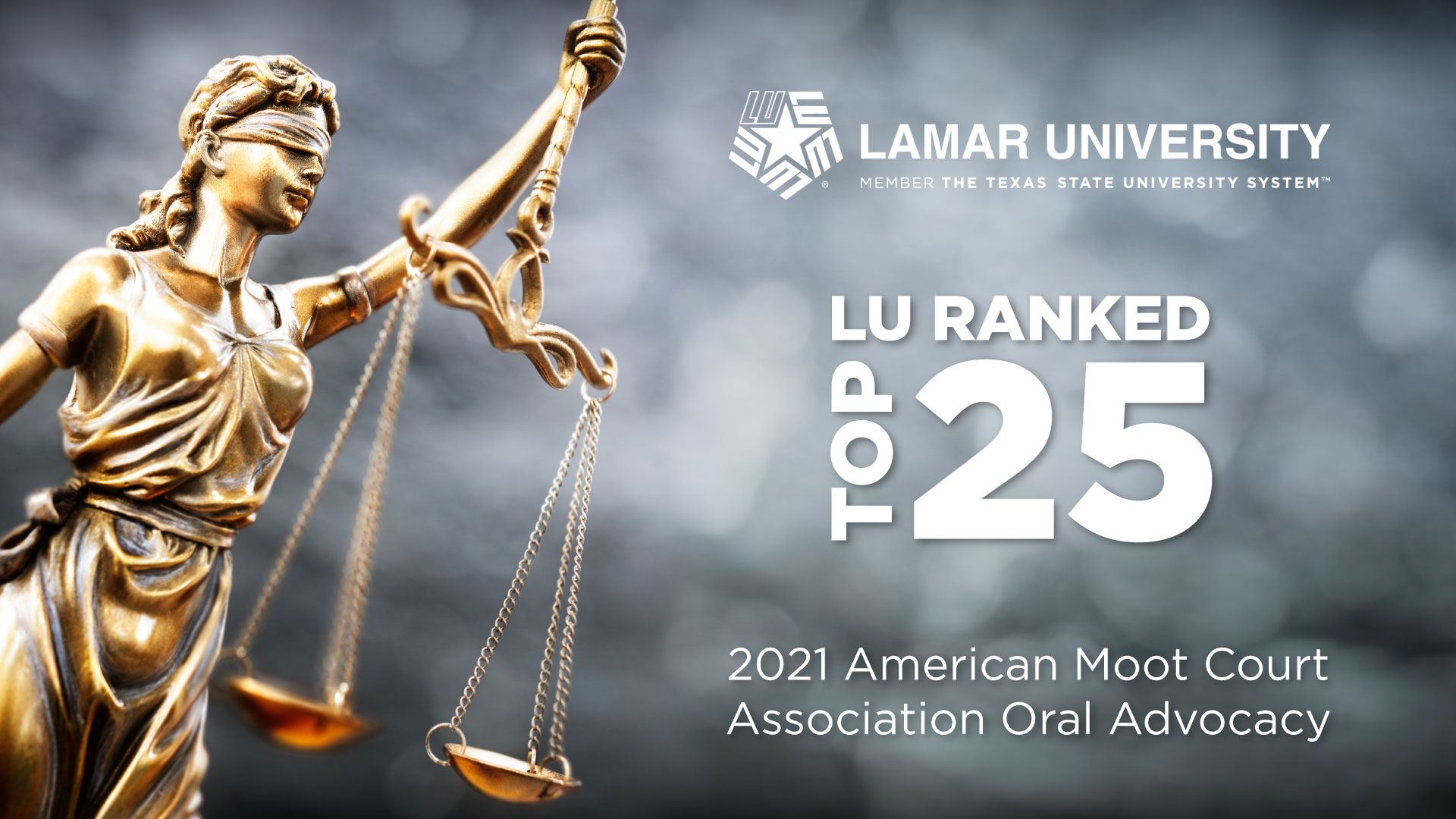 LU Ranks in top 25 in the American Moot Court Association Oral Advocacy for 2021